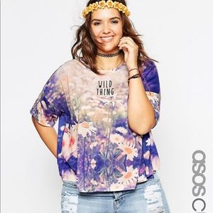 """ASOS floral Graphic Tee """"Wild Thing"""""""